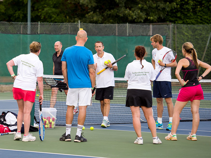 Tennis coaching - Available for adult and junior members