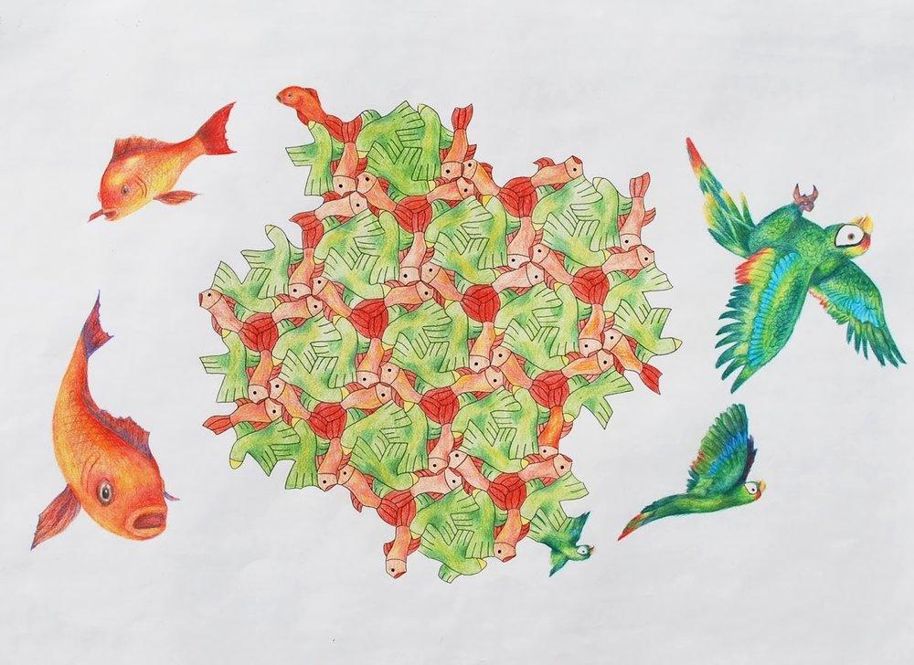 Bird and Fish Tessellation.