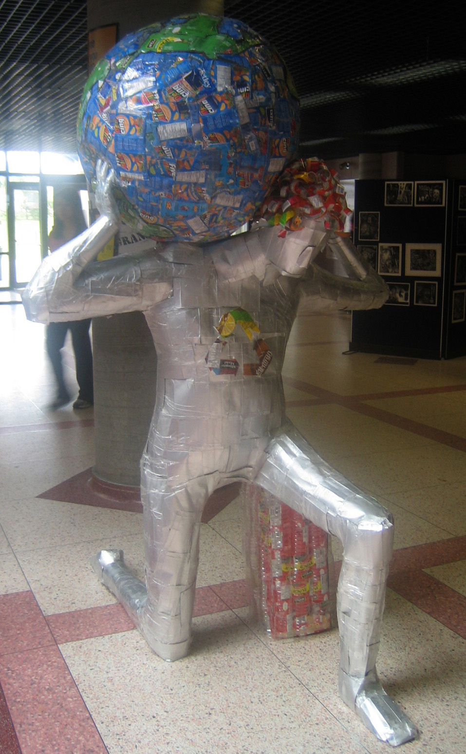 Atlas the Titan. Recycled Materials.