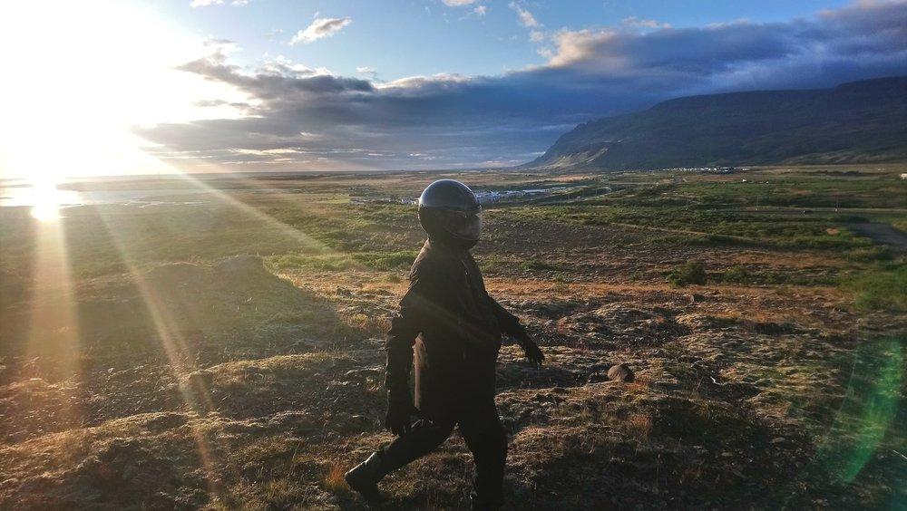 EURO MOON MARS Executive Director Bernard Foing testing 7L Abrasion System. Photograph taken by Benjamin Pothier 7th September 2018 in Iceland.