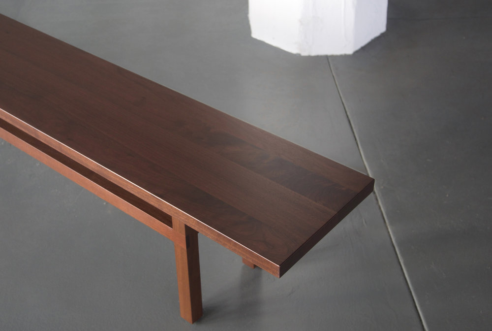 BELLBOY Yarrow Bench — Walnut — OVERHEAD.jpg