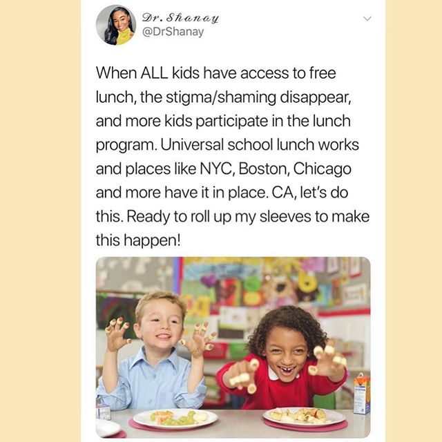 Universal free lunch goes a long way toward improving access to food for every child. ⭐️ #everykidfed #freelunchforchildren