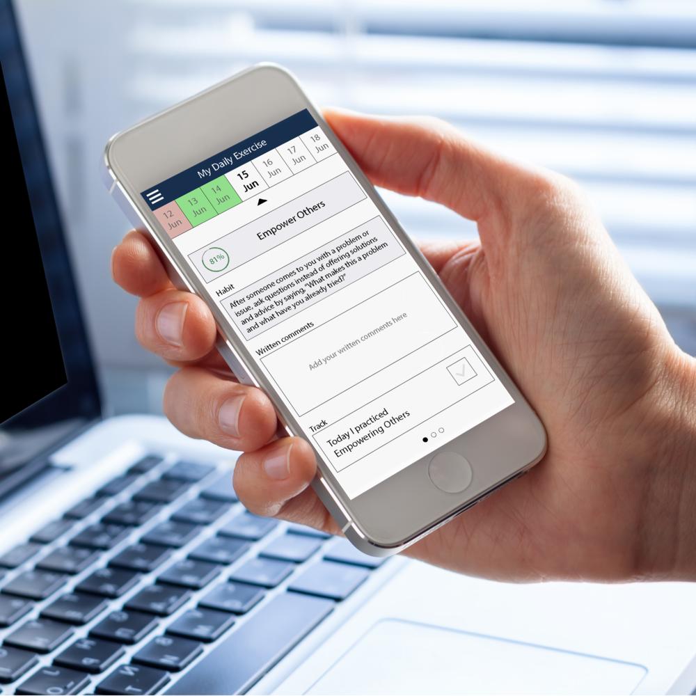 Leader Habit App on Mobile Phone
