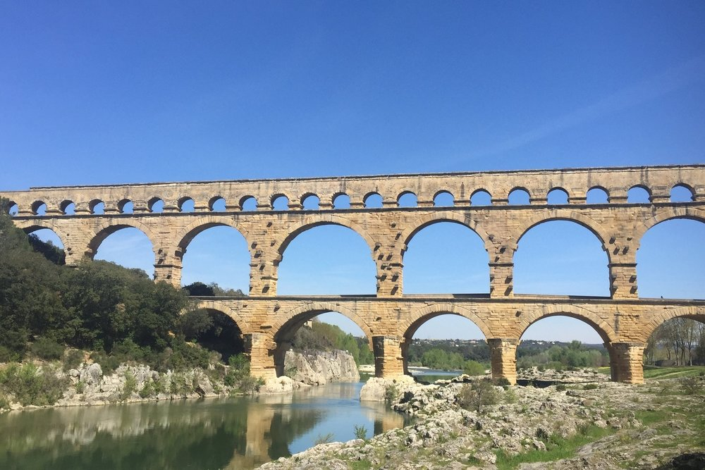 Le Pont du Gard, France. Photo by Allison Girard 2017.