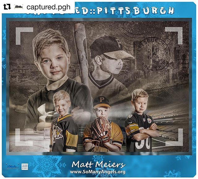"#Repost @captured.pgh with @get_repost ・・・ GALLERY FEATURE ••••• Matt Meiers :: www.SoManyAngels.org :: @somanyangels ••••• Matt Meiers recently moved to Pittsburgh from the beach in Delaware. For him, photography was a way to help capture moments and memories, and it grew from there into many other things. For example, last year, he started a non-profit called So Many Angels, which takes photos of children battling cancer and transforms them into whatever they want to be when they grow up.  The subject of Matt's work is Leo, who is the first child So Many Angels photographed at Children's Hospital in Pittsburgh. It's special because they were connected to Leo by another non-profit called Cuddles for Kids. As a result of this collaboration, Matt hopes to team up with Children's and Cuddles for Kids for some pretty incredible things in the future. ""It means that hopefully more people will become aware of our mission at So Many Angels.  I hope it connects us to more families that we can serve with what we do."" Matt feels he gets inspiration from everywhere, and would love to single out one person, but for him there have been so many.  Every photography conference and class he's attended has helped in some way get him to where his is today. He also feels that none of this would happen without the support of his wife. Lastly, for this particular work, he would especially like to thank Mickey Webster for his editing skills, as he knocked out of the park on Leo's photo. ••••• #capturedpgh #pittsburghphotographer #pittsburgh @mattmeiers @captured.pgh @cuddlesforkids @childrenspgh @mickeywebster"
