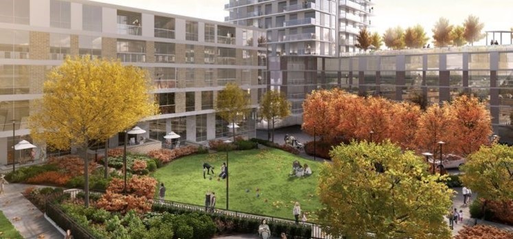 Rendering: Fraser Commons at Marine Drive