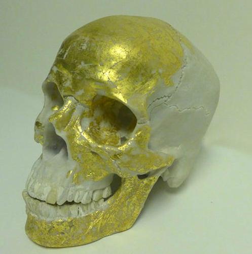 Gold Leaf Skull