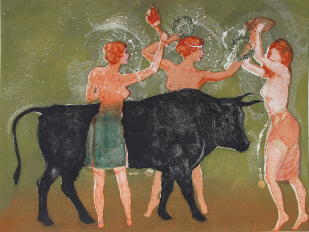 Cretan Virgins and a Sacred Bull