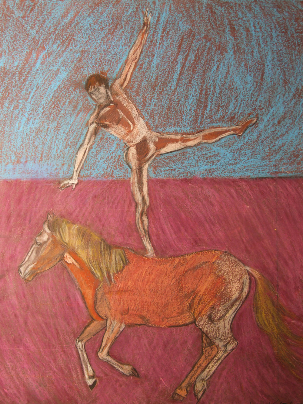 Male Dancer on a Pony