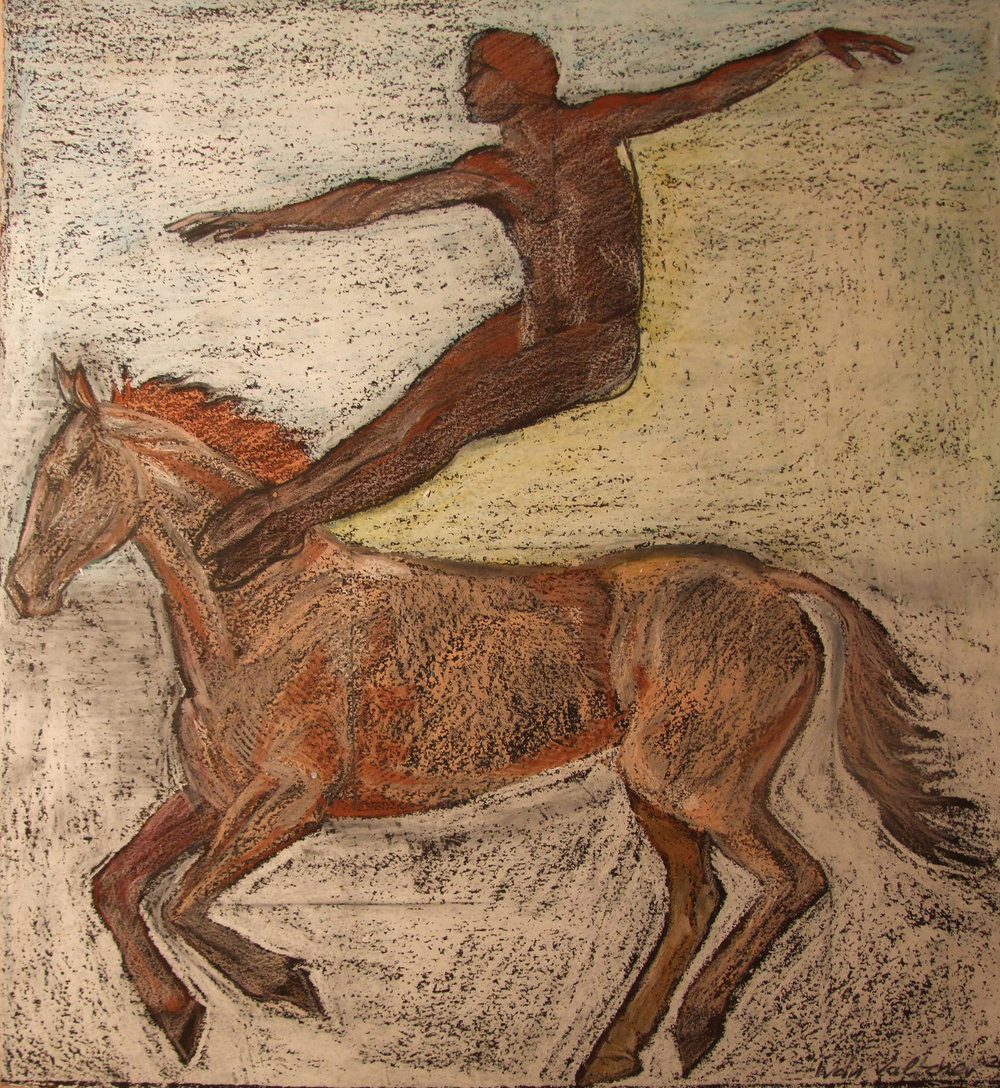 Dancer Jumping on a Horse