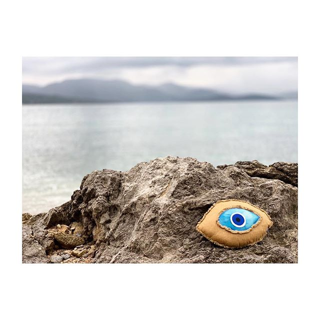 New home decor. 🧿 #comingsoon • • • • protect your living space, with this evil eye pillow.  shop now at matimatistudio.com • • • • • #protected #evileye #homedecor #islandstyle #goodenergy #goodvibes #greekdesigners #greekstyle #design #style #art #luxury #designer #fashion #vacationgoals #greekgirl #decor #pillow #evileyepillow #fashiondaily #lohanbeachhouse #stylish #santorini #mykonos #greekislands #greece #matimativibes
