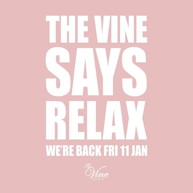 We're not open this weekend but back NEXT FRIDAY for partying and cocktails!  #takeabreak #restandrelaxation #relax #brentwood #essex #bar #thevine #doitforthevine #cocktails #bar #dj #hiphop #house #rnb #gin #ginstagram