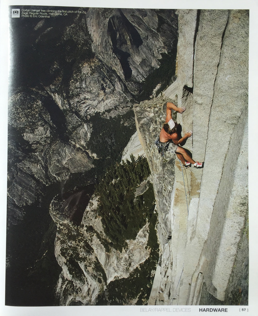 LIBERTY MOUNTAIN CATALOG  CLIMBER | CORBIN USINGER  PHOTO | ERIC ODENTHAL  REGULAR ROUTE | HALF DOME | YOSEMITE