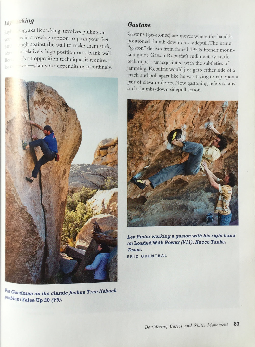 HOW TO BOULDER BY JOHN SHERMAN  CLIMBER | LEV PINTER (RIGHT)  AREA | HUECO TANKS | TEXAS  PHOTO | ERIC ODENTHAL