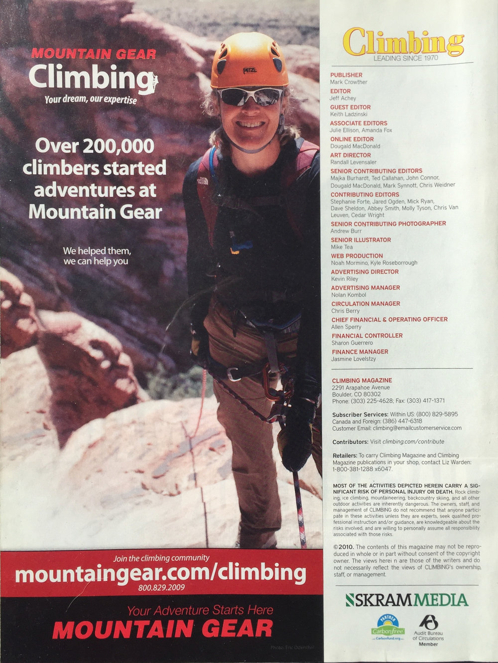 MOUNTAIN GEAR EVENT ADVERTISEMENT   RED ROCK RENDEZVOUS | LAS VEGAS   IMAGE | ERIC ODENTHAL