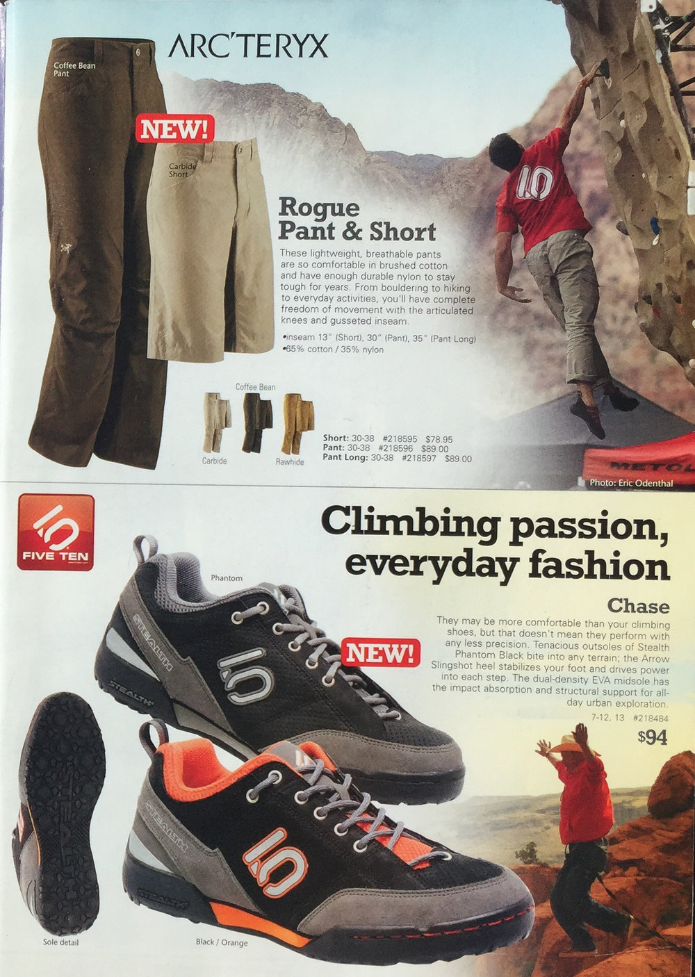 MOUNTAIN GEAR CATALOG  RED ROCK RENDEZVOUS | LAS VEGAS   IMAGE | ERIC ODENTHAL