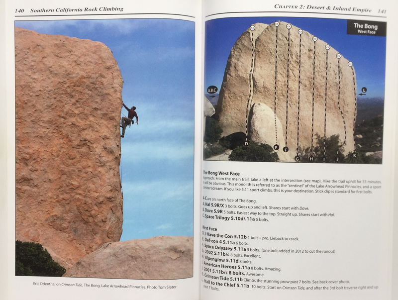 SOUTHERN CALIFORNIA ROCK CLIMBING GUIDE BOOK  CLIMBER: ERIC ODENTHAL (HOME CRAG IN LAKE ARROWHEAD, CALIFORNIA)  PHOTOGRAPHER: TOM SLATER