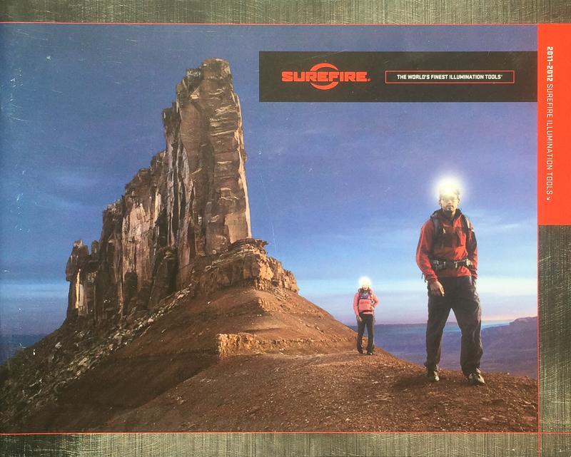 SUREFIRE CATALOG COVER  MODELS; ERIC ODENTHAL, ADDELINE GUAY  PHOTOGRAPHER;  GREG VON DOERSTEN
