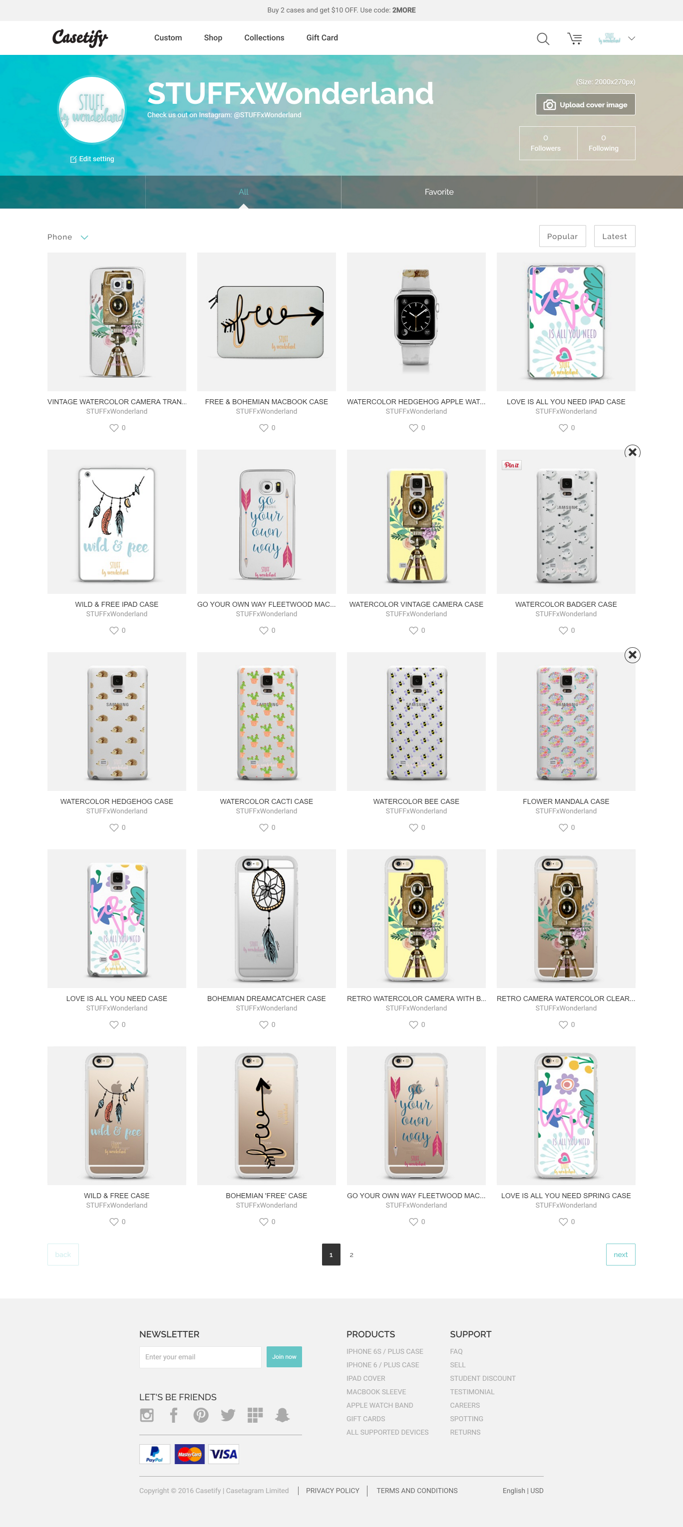 STUFFxWonderland Casetify Shop Announcement