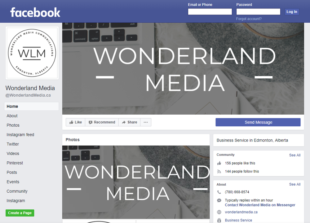 Wonderland Media Facebook Page Rebrand