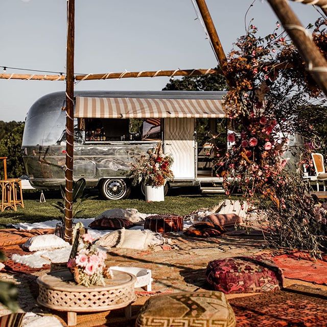 #valentinotheairstream in his element 😍 check out the amazing styling done by this dream team ❤️ #Repost @theeventslounge with @get_repost ・・・ Tipi views at our sweet Ellie + Alex's recent wedding ✨🌙✨ @elsas_wholesomelife @alexwatson || Created by #theeventslounge with @elisabettalillyred @orchardestate @bowerbotanicals @byronbaytipiweddings @silverliningsituations @theborrowednursery @lovestruckweddings #byronbaywedding