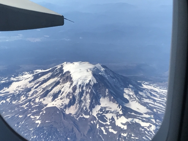 My view of Mt. Adams on this particular September day. (Well, I  had  to post one photo, right?)