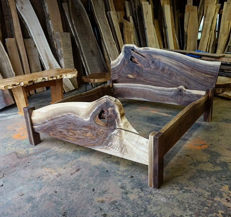 Black walnut king bed