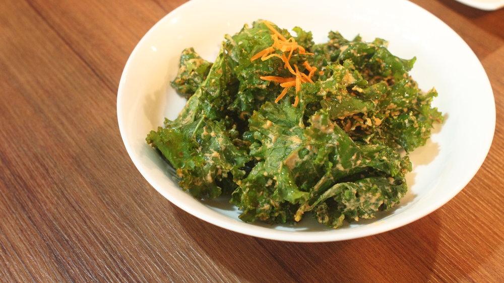 羽衣甘藍伴素食芝士 所採用的都是天然的調味料