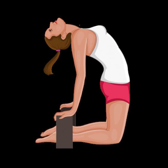 初學者可以加上瑜伽磚輔助