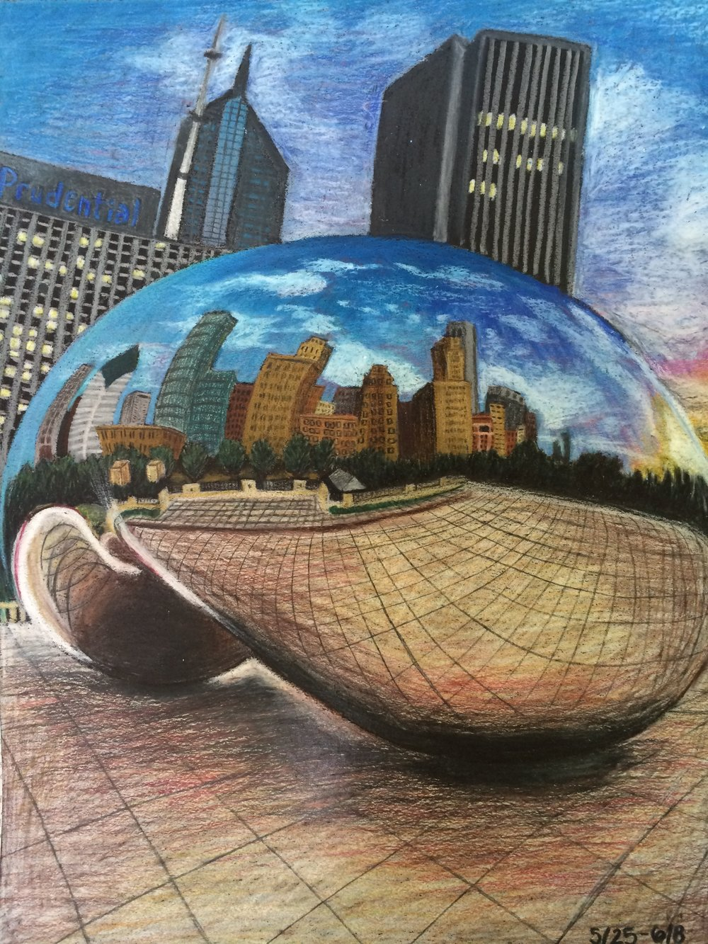 The Chicago Bean,  Colored Pencils