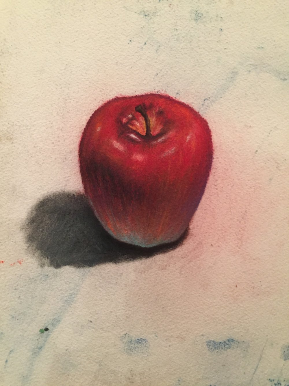 Apple for Practice,  Pastels