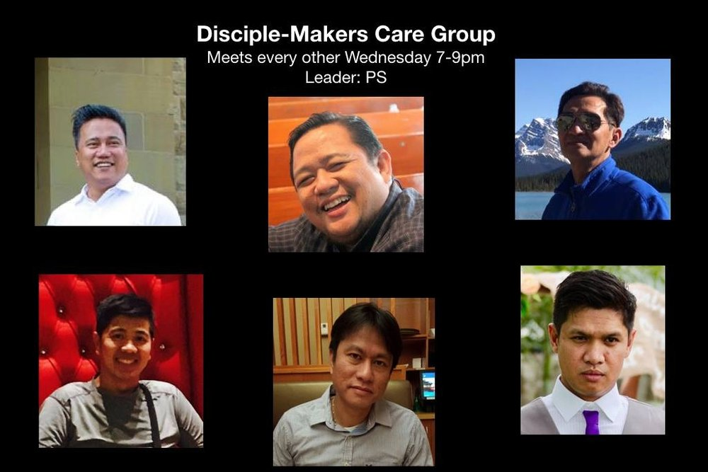 Disciple-Makers Care Group   Every other Wednesday at 7-9pm Contact: Pastor Israel La Guardia 587-596-1150