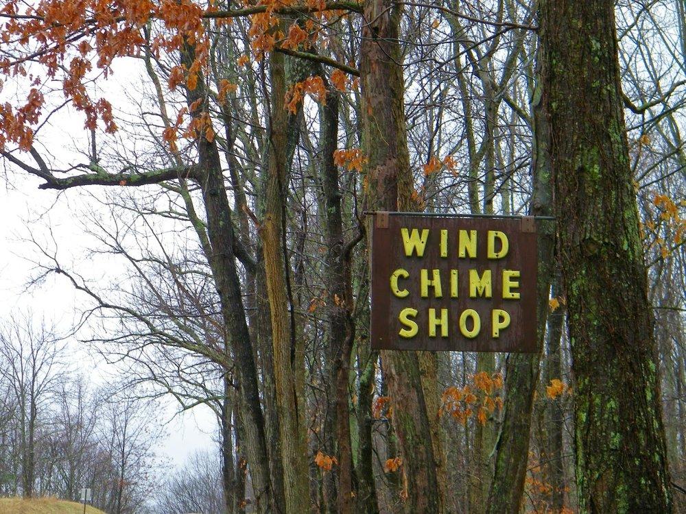 Wind chime shop of Hocking Hills