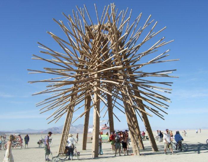 Bamboo Sculpture at Burning Man
