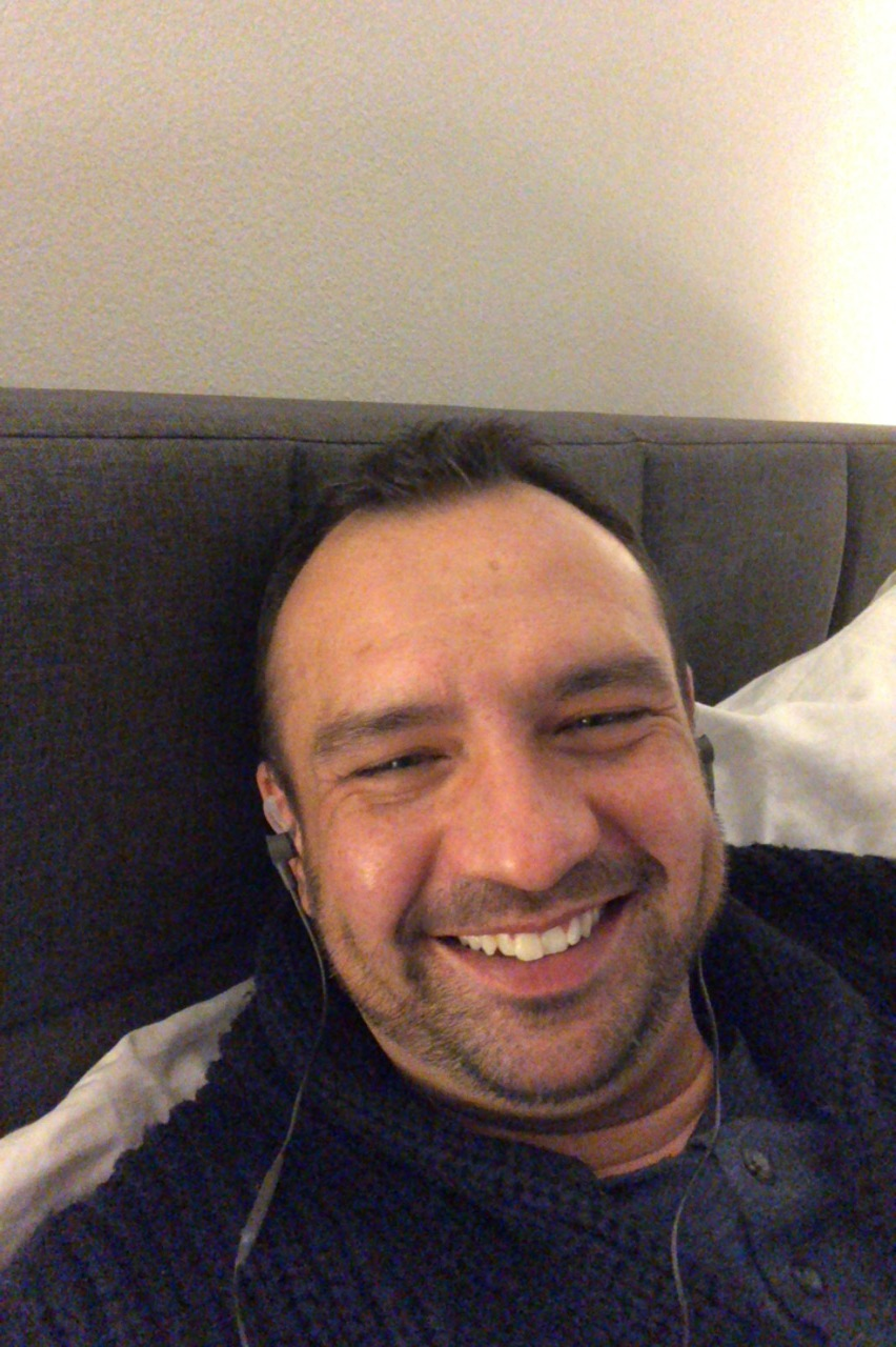 my handsome man during FaceTime.
