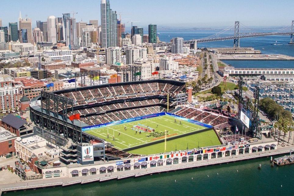 The site of the Rugby World Cup Sevens — AT&T Park