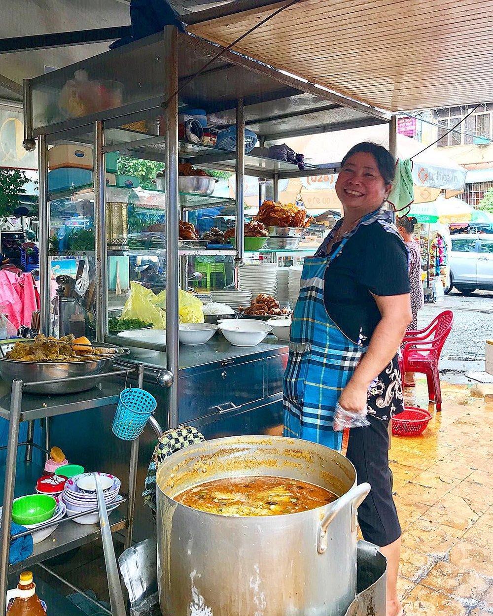 My favorite lunch lady in Saigon, Vietnam via Instagram @jonnyrouse7