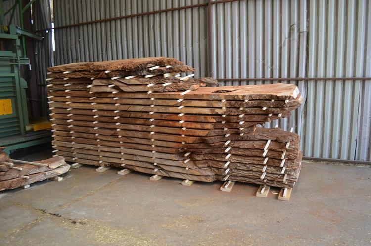Chocolate Brown Elm Log Whetstone Oak