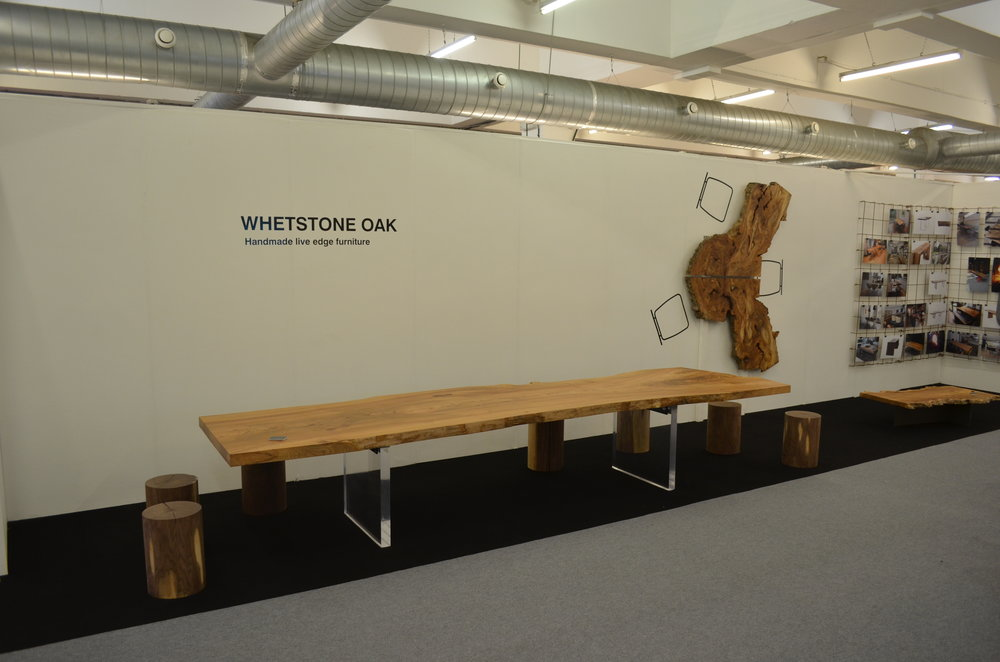 Whestone Oak showing live edge elm table LDF
