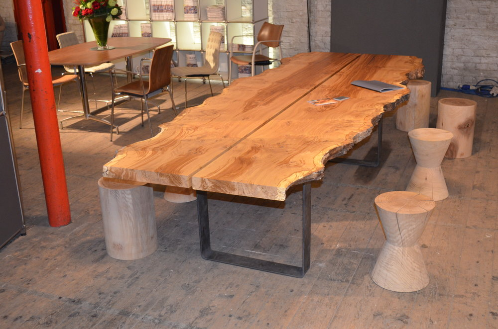 Burr oak table Clerkenwell Design Week