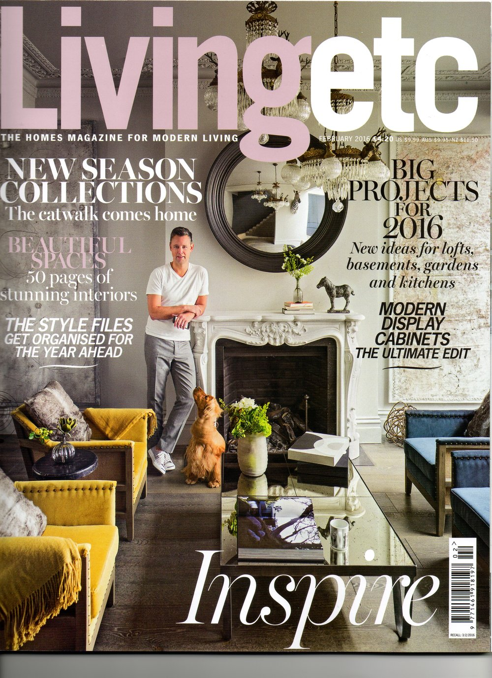 Living Etc cover elm headboard