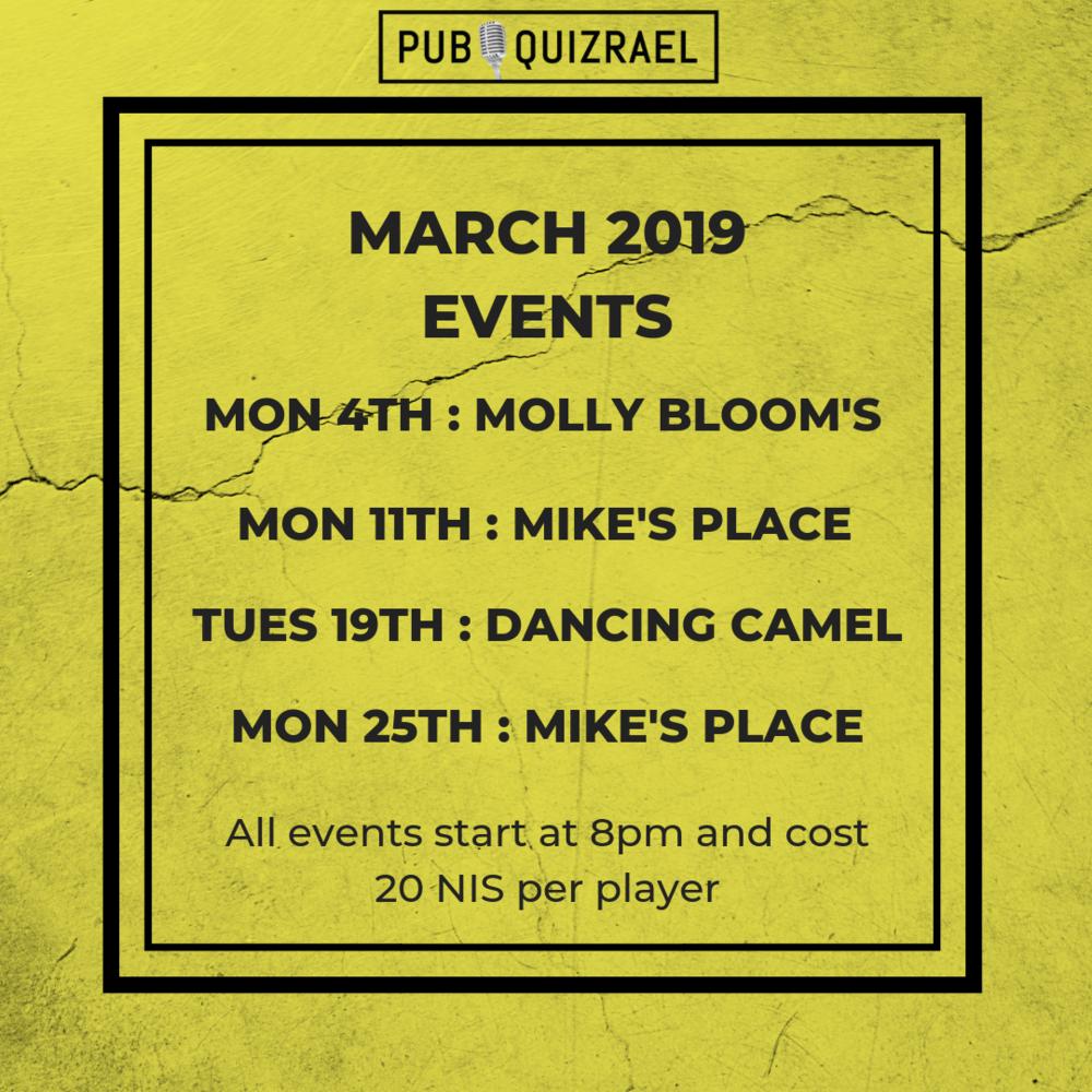 Events — Pub Quizrael