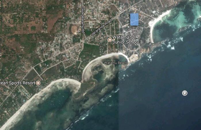 WALLED EMPTY PLOT OFF WATAMU BEACH ROAD FOR SALE - (REF: nvpp02)