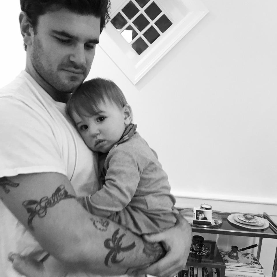 Husband Philip and son Billy Bjørn.