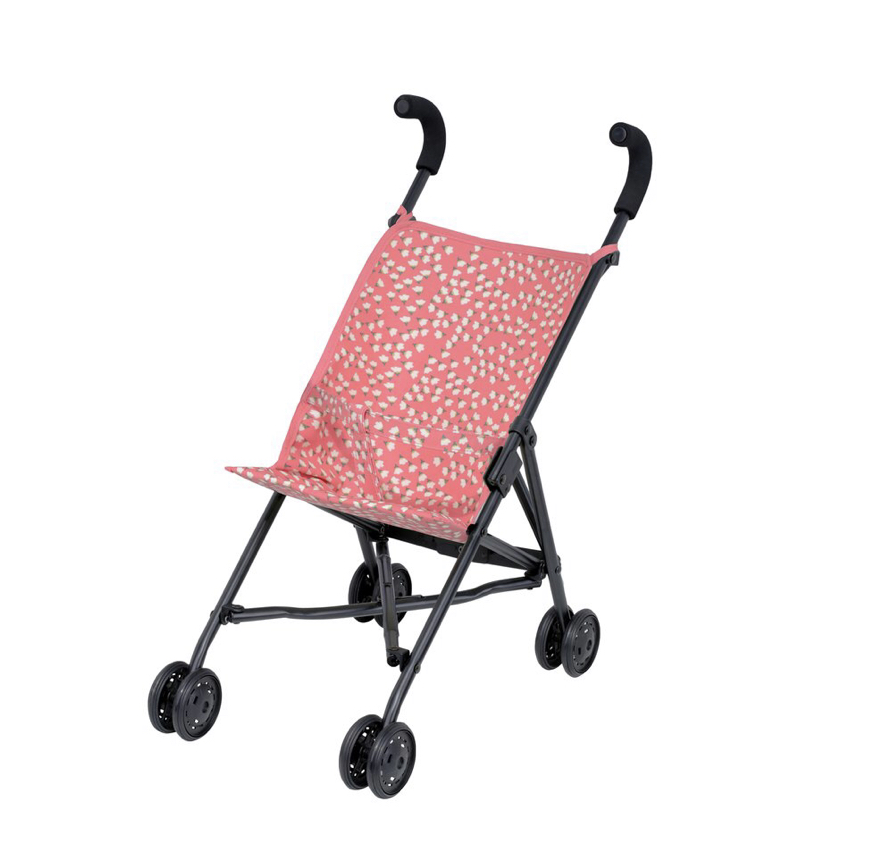 Every child is drawn to a mini stroller and these ones from Bobby Rabbit are way sturdier than the cheapy ones you get in supermarkets and they look so much better too! It has a wipe clean fabric surface which makes it extremely practical!      https://www.bobbyrabbit.co.uk/products/dolls-stroller-flowers