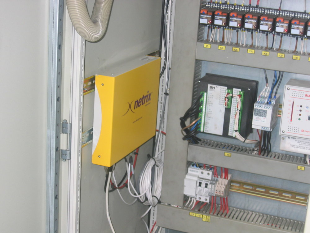 netrix Industrial installed alongside a Carlo Gavazzi power meter.