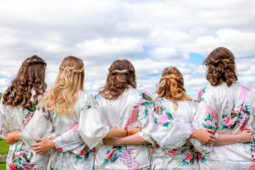 Bridesmaids-half-up-half-down-twists-blonde-bride-wedding