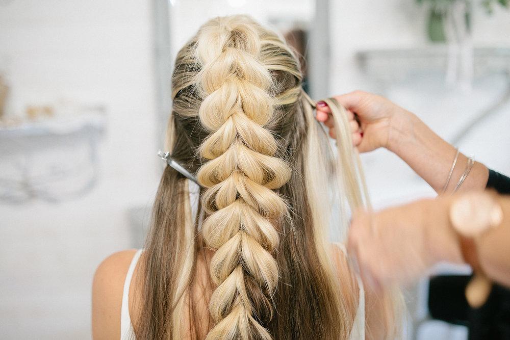 Simply Beautiful Wedding Hair- Pull through braid-wedding hair