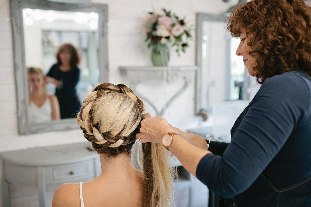 Simply Beautiful Wedding Hair- crown braid- wedding