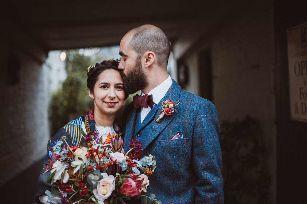 Claudia-the george in rye, wedding, bridal hairstyle, crown braid